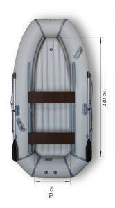 Лодка ПВХ Флагман 300 HT НДНД надувная гребная