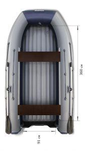 Лодка ПВХ Флагман DK 420 НДНД надувная под мотор