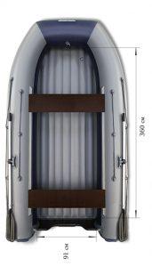 Лодка ПВХ Флагман DK 420 Jet НДНД надувная под мотор