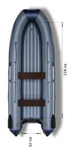 Лодка ПВХ Флагман 420 IGLA НДНД надувная под мотор