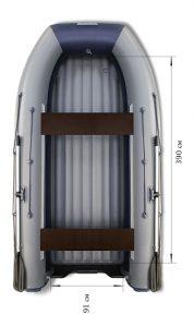 Лодка ПВХ Флагман DK 450 НДНД надувная под мотор
