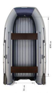 Лодка ПВХ Флагман DK 550 НДНД надувная под мотор